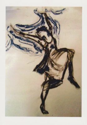 For psychotherapy, the painting depicts a dancer full of vitality